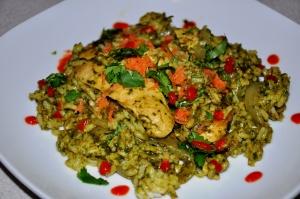 thai chicken tom kha style