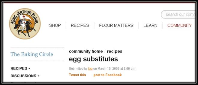 KAF Community Egg Subs