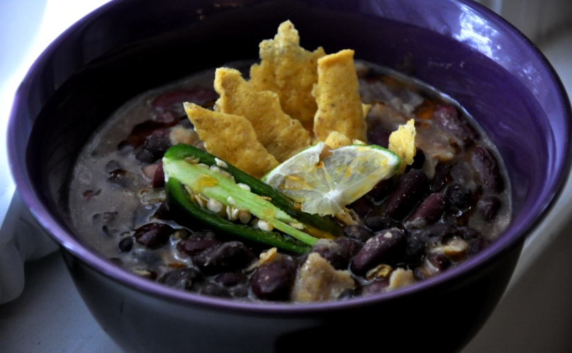 Easy Allergen-Free Weeknight Dinner Series: Chili Lime Tortilla Soup with Red and BlackBeans