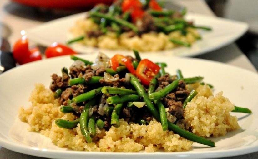 Easy Allergen-Free Weeknight Dinner Series: Savory Beef n'Quinoa