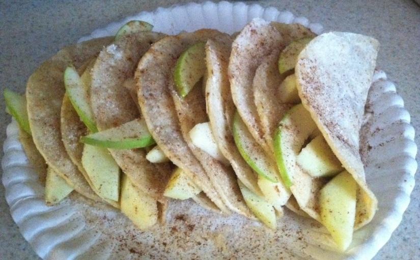 Green Apple Tacos withCinnamon-Sugar