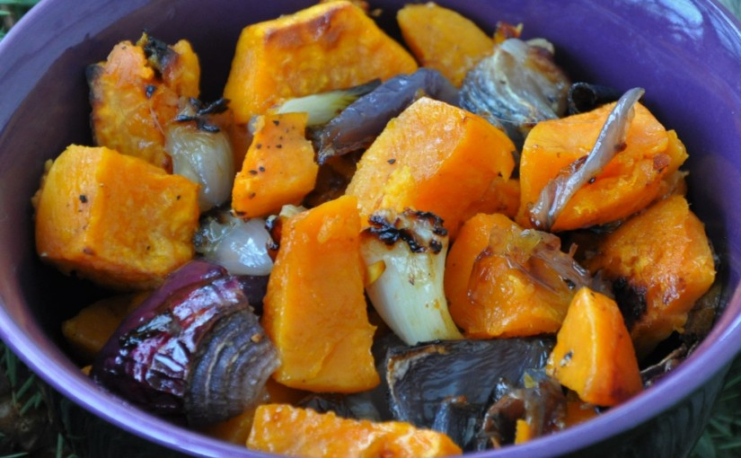 Easy: Roasted Sweet Potatoes with RedOnions